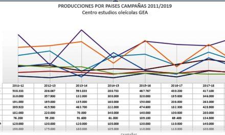 España producirá más del 50% del aceite de oliva mundial en la próxima campaña