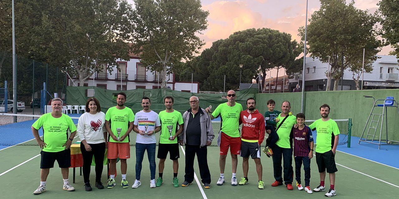 Fernando García, campeón de tenis del IX Torneo Memorial Pepe Passas de Tenis y Pádel