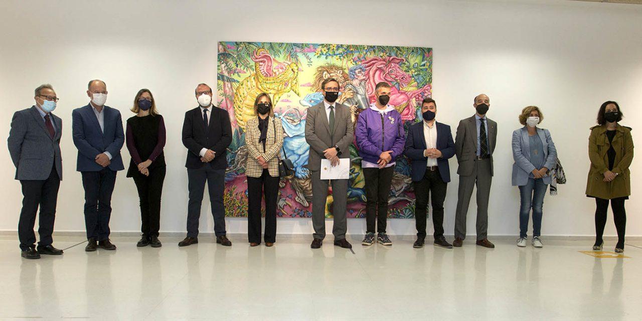 El artista Miguel Sheroff expone 'Después del Tiempo' en la antigua Escuela de Magisterio de Jaén